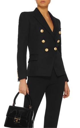 black balmain blazer