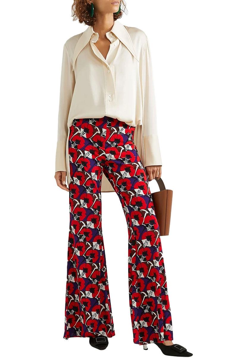 print clothing pants blouse