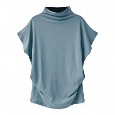 Turtleneck Short Sleeve T-Shirt