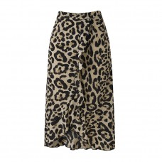 Boho Leopard Print Skirt
