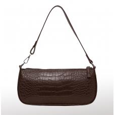 Croc-effect Shoulder bag