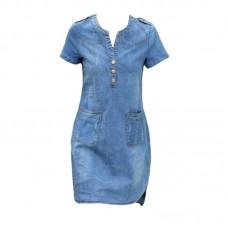 Plus Size Mini Denim Dress